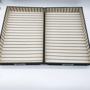 (2) Legal Canvas Letter Paper Trays Desk Organizer